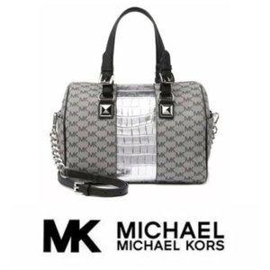 Michael Kors Greyson Medium Barrel Satchel Handbag